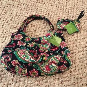 NWT Vera Bradley petal paisley tote and coin purse